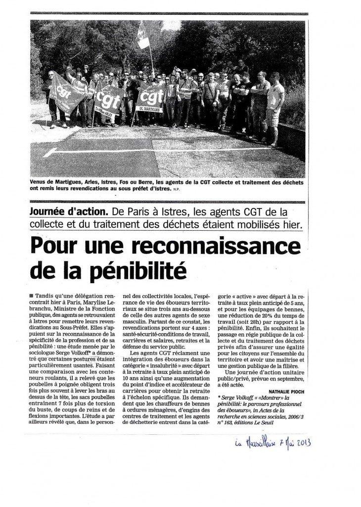 Dépot du cahier sous préfecture d'Istres le 6 Mai dans collecte / traitement des déchets prefecture-6-mai