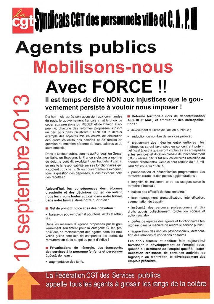 MOBILISONS NOUS AVEC FORCE! dans FLASH INFO 4p-p1