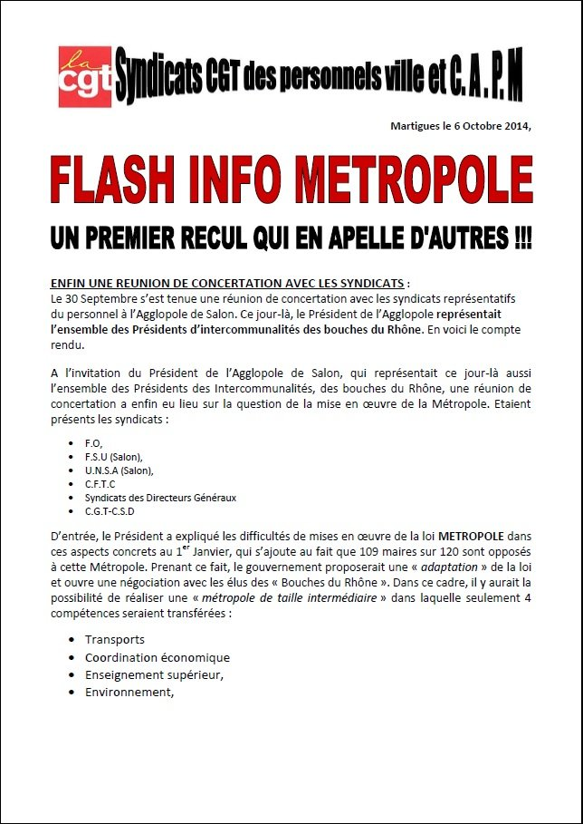 flash info metropole p1